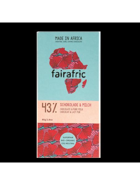 fairafric Schokolade 43 %mit Milch