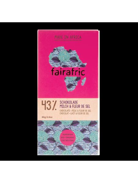 fairafric Schokolade 43 % mit Milch & Fleur de Sel