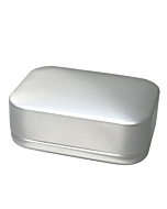 Seifendose aus Metall, silber - individuell bedruckbar